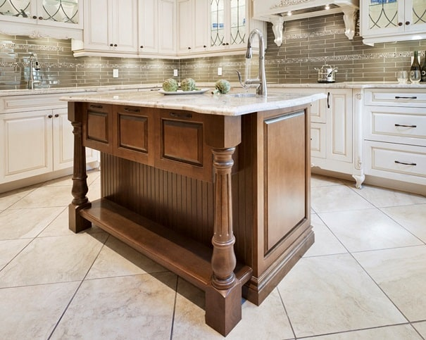 Kitchen Island Cabinets With Contrasting Wood 2