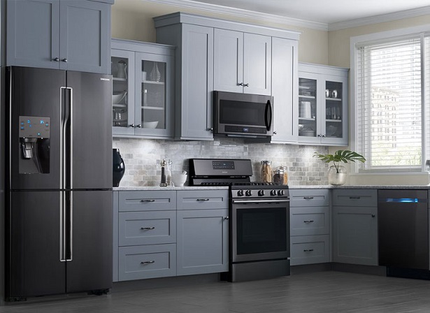 black stainless samsung appliances
