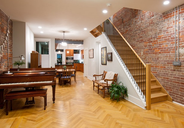 Parquet flooring by Allegheny Mountain Flooring