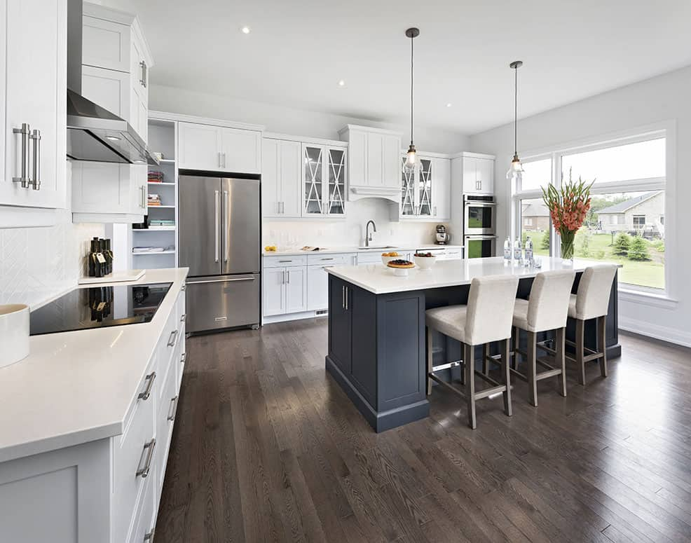 Contemporary Kitchen with Storage - Laurysen Kitchens - Ottawa