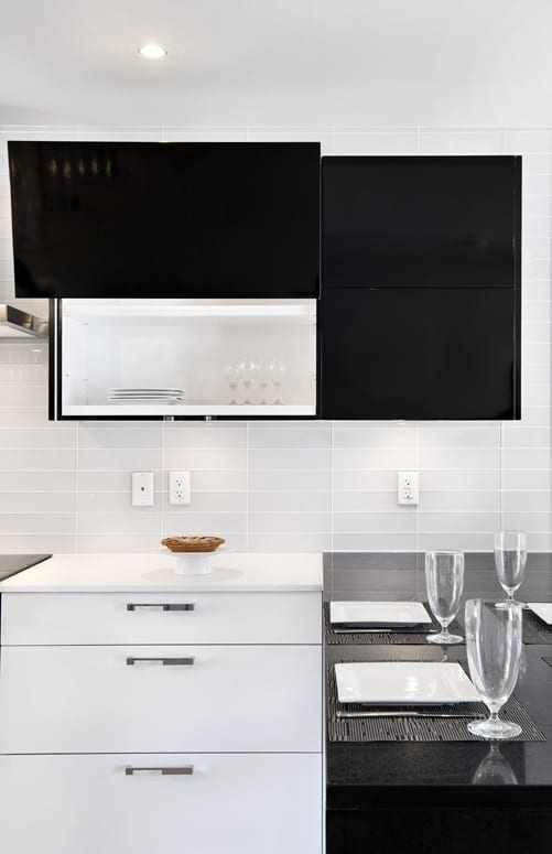 How Fantastic Are These Black Cabinets? They Make The Entire Kitchen Look  Chic And Sophisticated. Laurysen Kitchens Design Gallery.