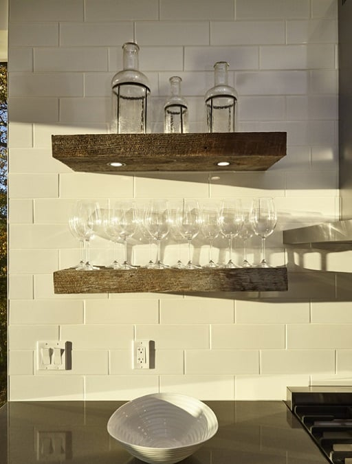 open barn wood shelves