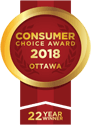 Consumer Choice Award Ottawa 2018 22 years