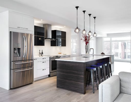 contemporary-wood-and-white-kitchen-design