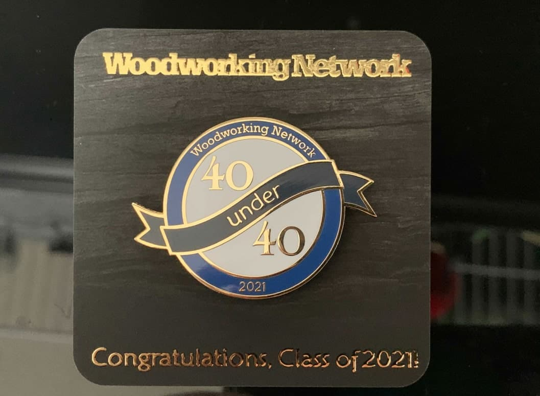 Michael Laurysen was recently named one of the newest members of the Wood Industry 40 Under 40 Class of 2021 by Woodworking Network